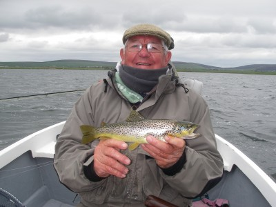 Brian Thomas with a Loch Harray Brownie