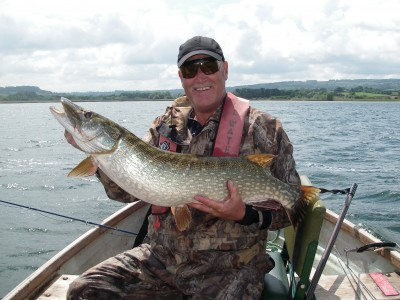 Trev Simpson's PB fly caught 23 pounder from Chew