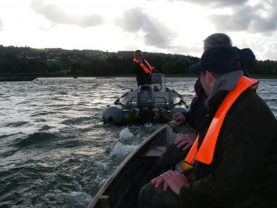Being towed off Blagdon