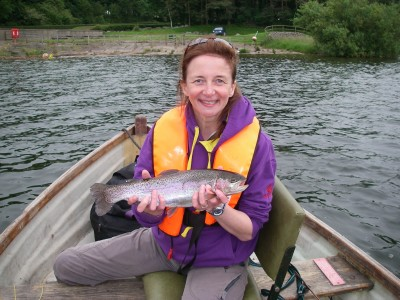 Becky with a cracking Chew rainbow
