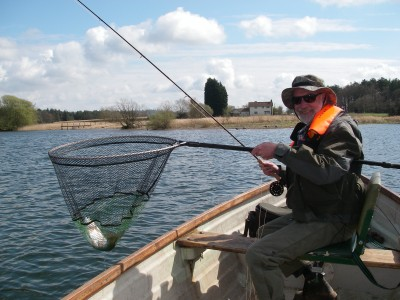 Mike Brown with a Herons Green rainbow