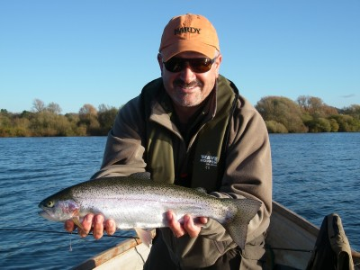 My first fish of the day - a 3lb plus rainbow