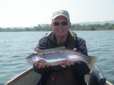 Barry Hawyes with 4lb Rainbow