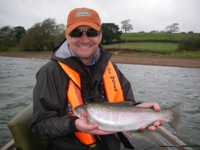 Andy Lucas with 4lb Blagdon Rainbow