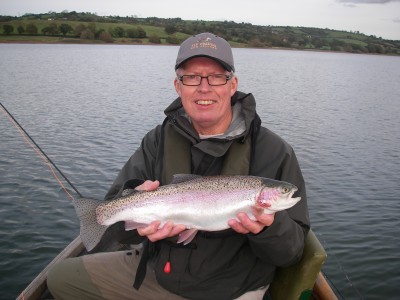 Barry Hawyes and a 4lb Blagdon Rainbow