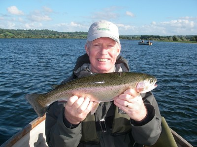 Barry Hawyes with a 3lb plus Chew Rainbow