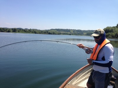 Dave Leathwick playing a pike on Chew