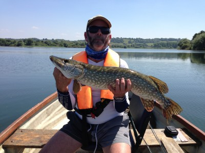 Dave with his PB pike