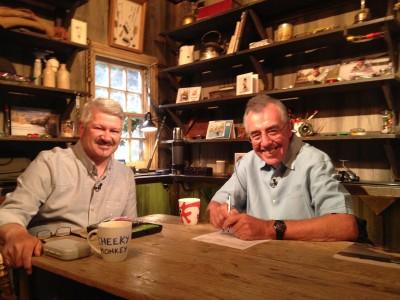 With Keith Arthur in the Sky TV Studios