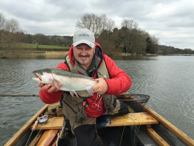 A cracking Blagdon rainbow