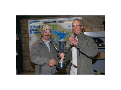 Clive Collier presenting me with the National Trophy