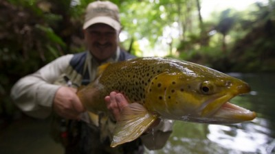 Me with a cracking river Brownie