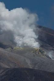 Active volcano above Lake Rotoaira