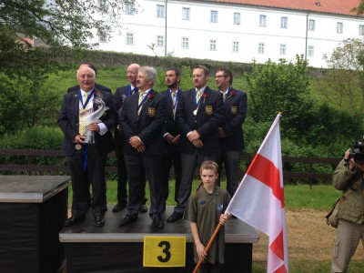 Team England on the Podium