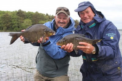 Baz Smith and me with Lough Derg Bream and Hybrid