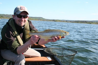 Tony Donnelly with a cracking Chew brownie