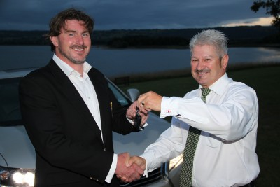 Ben Dobson - Lexus Champion - gets the keys to a Lexus RX450 SUV
