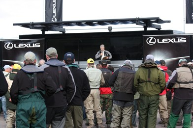 Briefing the competitors at the Lexus Grand Final