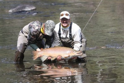 JH and Chris Bassano with the monster Tassie Brownie